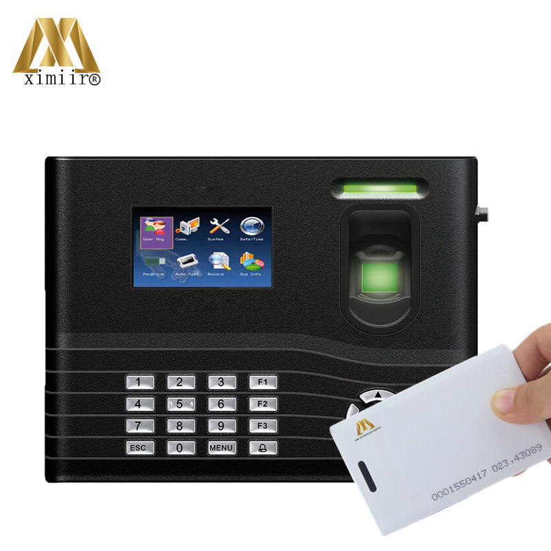 IN01-A Hot Sale Good Quality With Back Up Battery Fingerprint Access Control 125KHz RFID Card Time Attendance Recorder