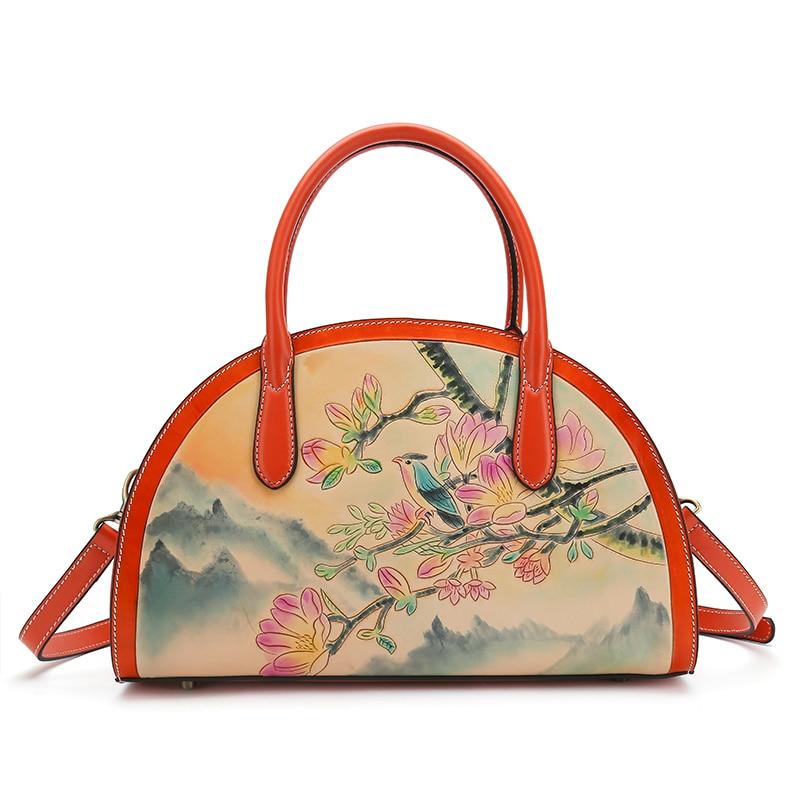 100% hand carved half moon shape women genuine leather handbags woman handbag crossbody bag moon flac jeans