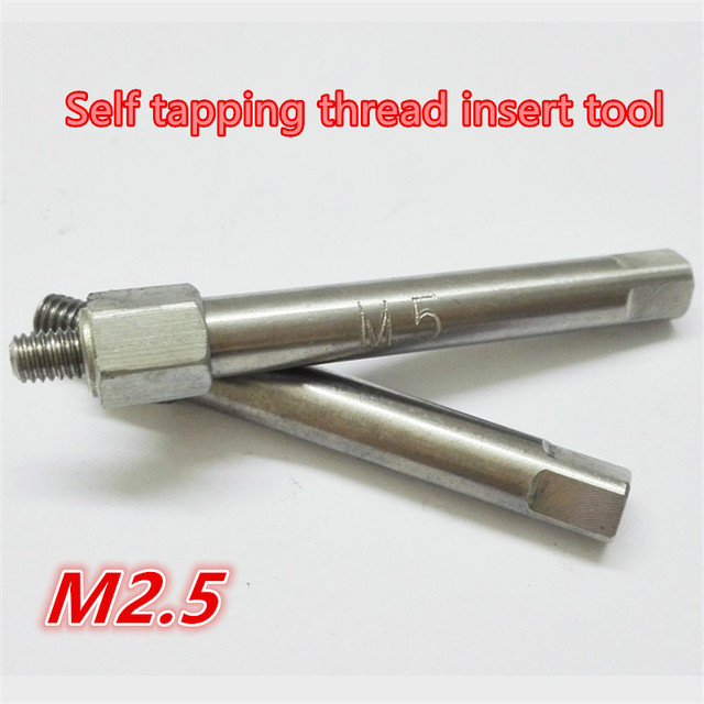 US $7 75 |M2 5 Manual Screw Bushing Install / Wire Thread Insert Tool Self  Tapping Thread Insert Tools-in Tap & Die from Tools on Aliexpress com |