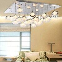 Современный минималистский LED столовая люстра гусиное яйцо стекло двойное стекло пузырь гостиной столовая спальня люстры lu01