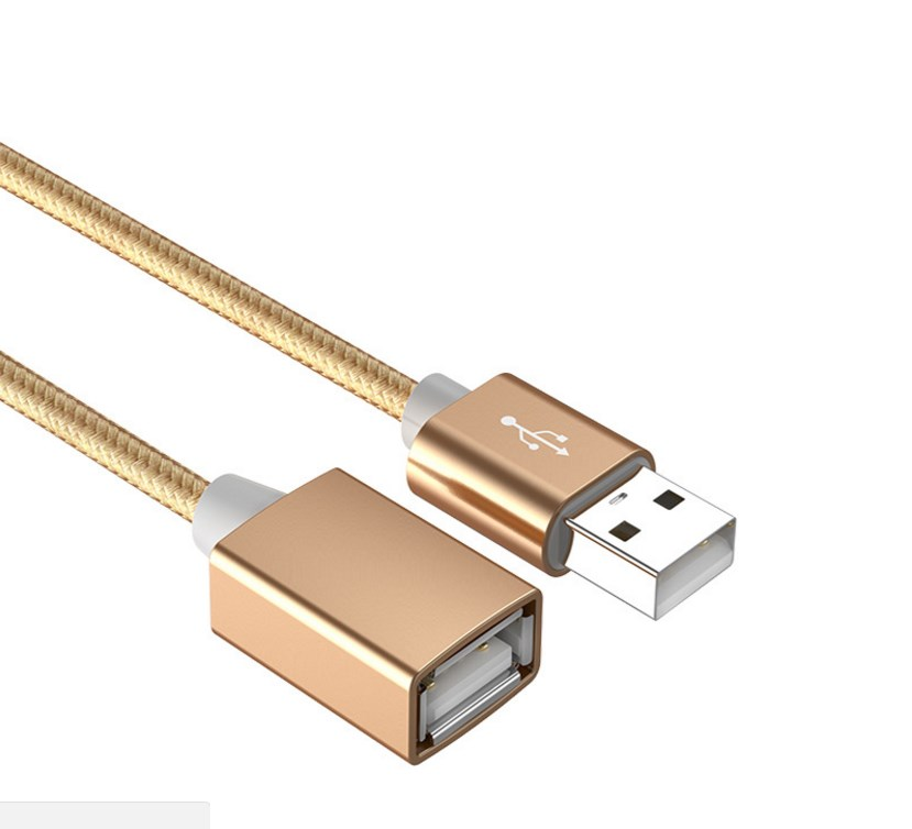 Usb extension cord male to female data line keyboard mouse computer u disk extension cable nylon