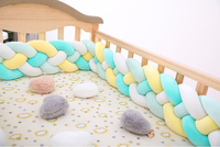 2M3M 4 Knot Soft Baby Bed Bumper Crib Sides 4 Braid 2 Meter Newborn Crib Pad Protection Cot Bumpers Bedding for Infant