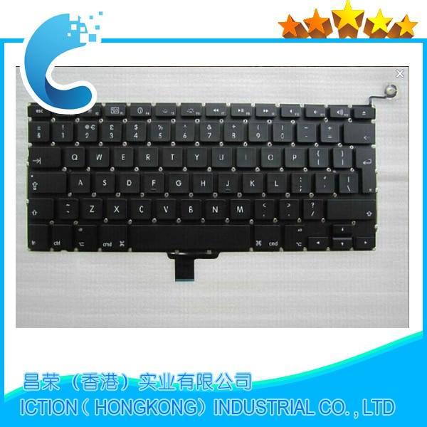 100% New UK Laptop Keyboard 2009-2012 For Apple Macbook Pro A1278 MC700 MC724 MD313 MD314 UK Keyboard Replacement