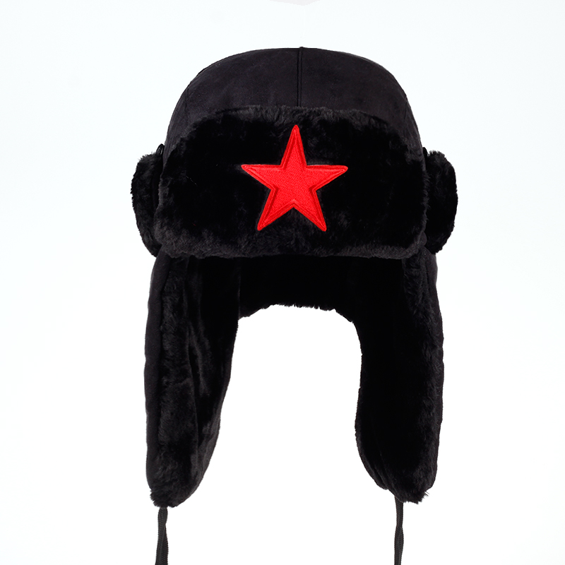 VORON Winter Hat Russian-Hat Aviator Outdoor Bomber-Cap Ear-Flaps Trapper Feng Lei Proof
