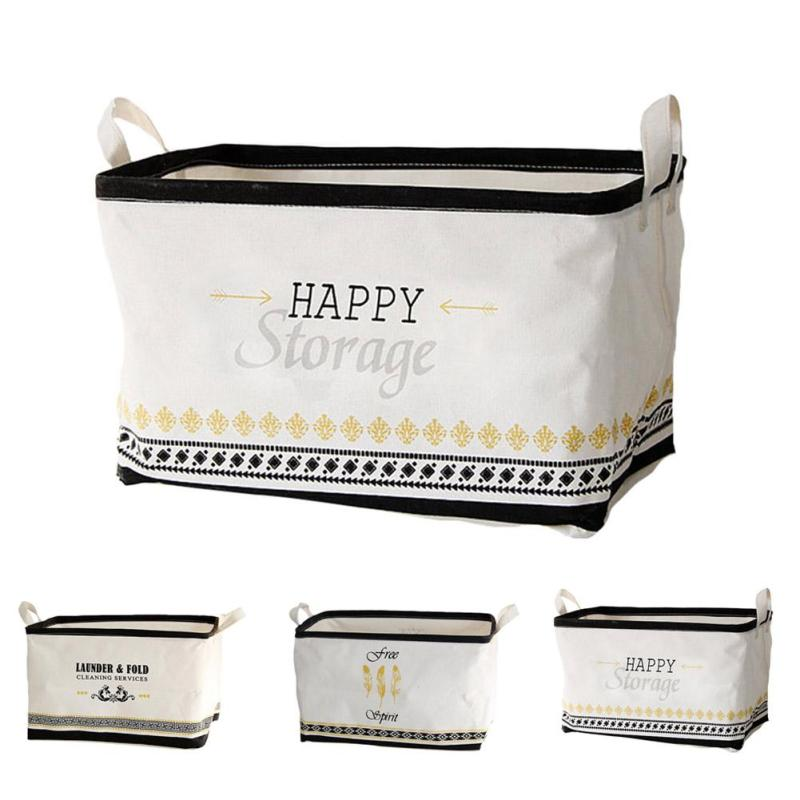 Brief Linen Cotton Waterproof Storage Box Cosmetic Bag Home Decor Housekeeping Orgnization Travelling Bag 3
