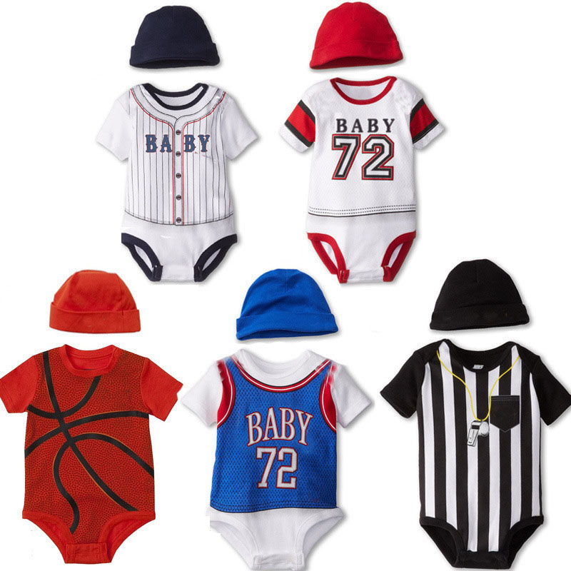 2pcs Baby Rompers Cotton Baby Boy Clothing Set Summer Newborn Baby Clothes Bebe Clothes Infant Jumpsuits jersey nba twins image