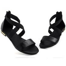 MORAZORA 2019 Genuine Leather Women Sandals Hot Sale Fashion Summer Sweet Women Flats Heel Sandals Ladies Shoes Black