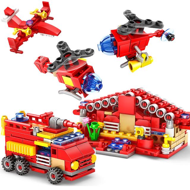 414pcs Fire Station Building Blocks