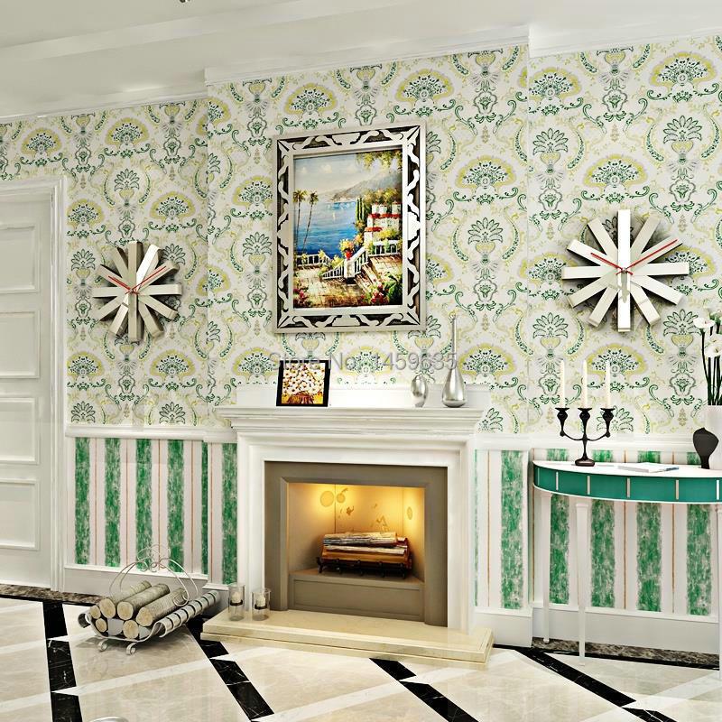 Papier peint non-tissé de livre papier peint de fleur verte papier peint écologique de fond de salon