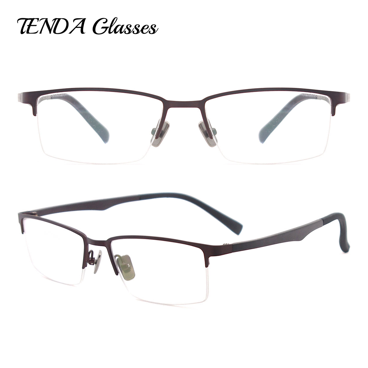 Metal Metade Rim Óculos Flexíveis Óculos Moda Miopia Homens Óculos De  Prescrição de Óculos 270bdf4330
