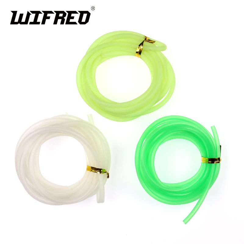 [2m/pack ] 3mm & 3.5mm Soft Luminous Silicone Tube for Fishing Glowing Rubber Tubbing / Rig Making Glow Tube Fishing Accessories rompin 20pcs fly tying riging tube pvc lumo tubblings fishing material luminous tube for sea fishing tackle diy 2mm 3mm 12cm