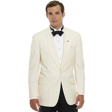 groom suits men bridegroom wear shawl collar for wedding tuxedo for 2017 custom made suit ivory