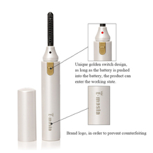 Electric Heated Eyelash Curler Natural Long Lasting Eyelashes Eye Lash Curling Tool Comb Eyes Makeup Brush