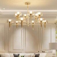 Nórdico Sala de estar iluminação Lustre Moderno Estilo Jellyfish Lâmpada Da Sala de Jantar a luz de cristal de Luxo Lâmpada Quarto Criativo