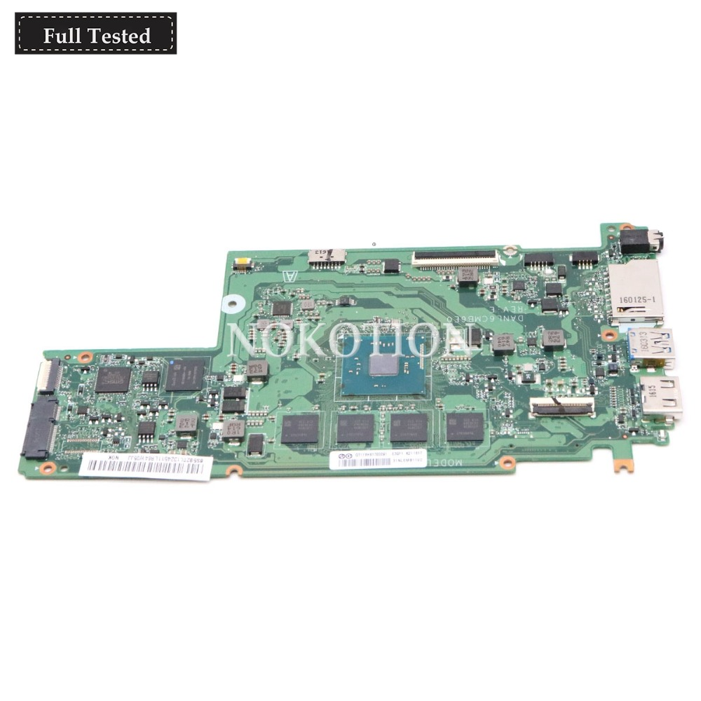 NOKOTION DANL6CMB6E0 5B20L1324511 Main board For lenovo Chromebook N22 laptop motherboard 16G SSD onboard DDR3 Full tested