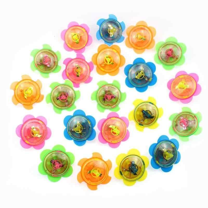 Nieuwigheid Hand Twisted Gyroscoop Speelgoed Lichtgevende Roterende Gyro Elektrische Tol Speelgoed met Licht Geschenken