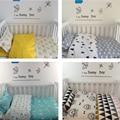 2016 3 pcs/1 conjunto ins bebês berço roupa de cama recém-nascidos bedding set crianças cobertor do bebê fronha lençol capa de edredon sem enchimento