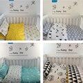 2016 3 unids/1 Unidades ins bebés cuna ropa de cama funda de almohada bedsheet bedding set niños manta de bebé recién nacido funda nórdica sin relleno