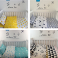 2016 3pcs/1set Ins Babies Crib Bed Linen Newborn Bedding Set Kids Blanket Baby Pillow Case Bedsheet Duvet cover without Filling