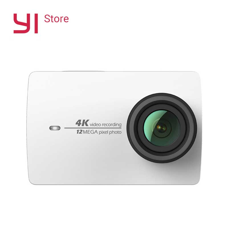 "YI 4K Action Camera White 2.19 ""شاشة LCD صلبة 155 درجة EIS Wifi Black International Edition Ambarella A9SE75 12MP CMOS"