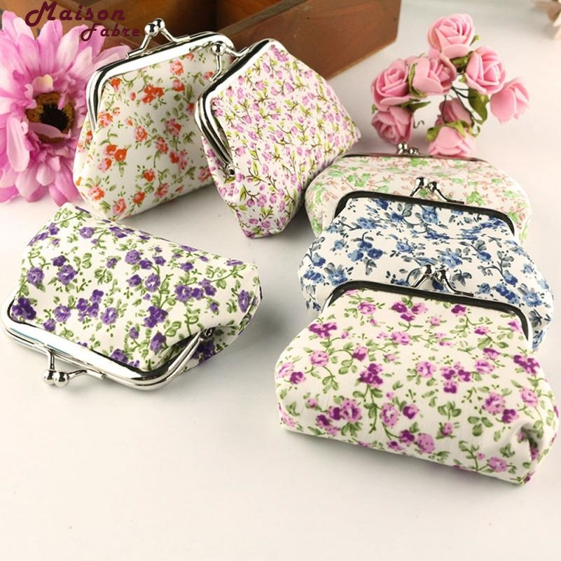 Maison Fabre Coin Purse Women Lady Retro Vintage Flower Small Wallet Hasp Purse Clutch Bag Drop Shipping 2018m6