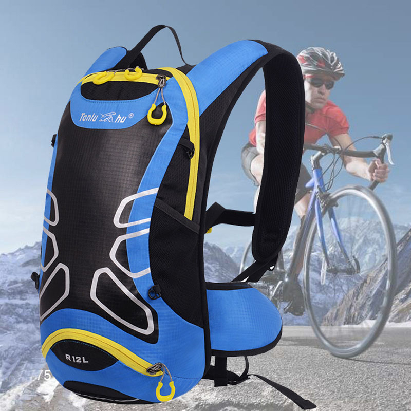 12L Outdoor Sport Bladder Hydration Bike Bag Cycling Backpack Running Pack Mountaineering Bag Light Water Bag Backpacks 12l cycling road backpack bike mountaineering rucksack water proof nylon running outdoor ultralight travel water bag helmet bag