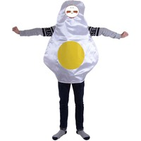 Adult Fired Egg Costume Food Fun Fancy Dress Halloween Party Costume Onesie Unisex Poached Eggs One