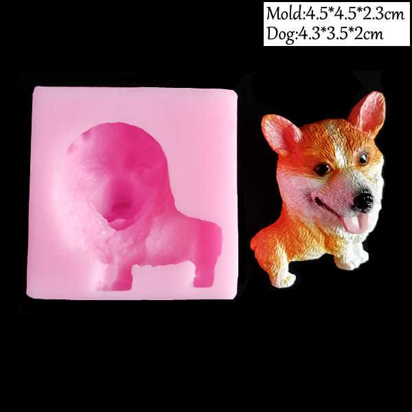 25 أنماط لطيف الكلاب UV الراتنج سيليكون قوالب DIY بها بنفسك الكريستال الايبوكسي الجليد فندان كعكة تزيين أدوات الحلوى السكر الطين الجص C340