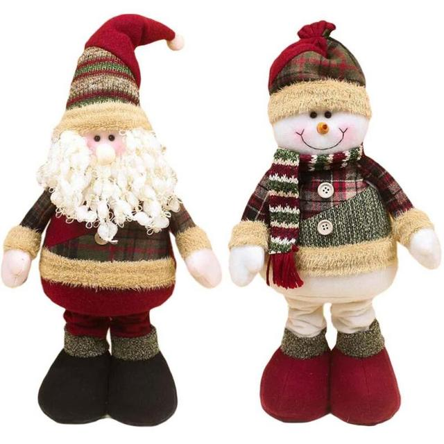 lovely santa claus snow man doll christmas decoration for home xmas decent ornaments large 55x20 cm - Christmas Decorations Large Santa Claus