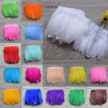 New! new! Goose feather 2 m long tape, about 14-18cm wide, DIY jewelry accessories