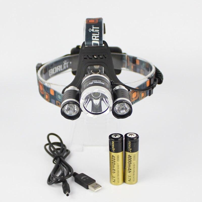 BORUIT RJ-3000 1xCREE XML T6+2xCREE R2 1600 Lumens 4-Mode USB Rechargeable LED Headlamp+2x18650+1xCharger+1xUSB Cable sitemap 28 xml page 4