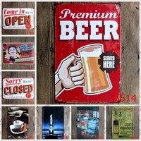 20x30 cm Metal Tin Sign Retro vintage Classic Tin Bar pub home Wall Decor Retro Tin Poster Random delivery 10PCS bundled sale
