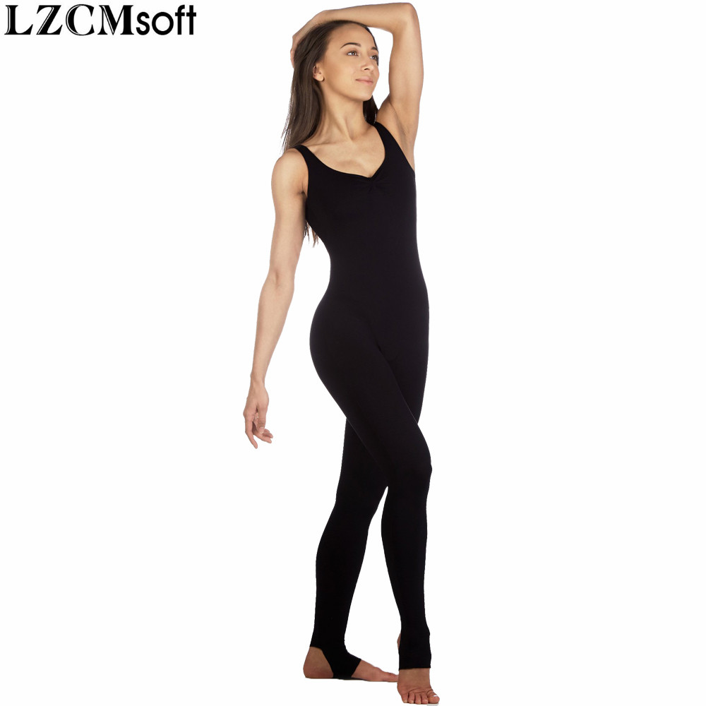 2ba4b5aab0 LZCMsoft Women Stretchy Tank Unitards For Practice Adults Spandex Nylon  Dance Unitards Fancy Gymnastics Costumes Training