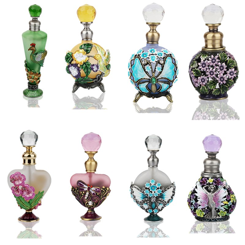 H&D 26Kinds Empty Refillable Perfume Bottle Cosmetic Container Gifts For Lady Vintage Retro Glass Container