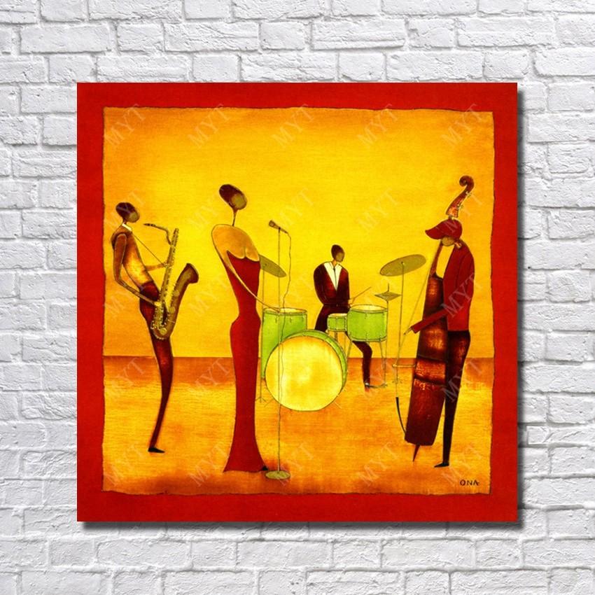 Jouer Instruments De Musique Peinture à L Huile Main
