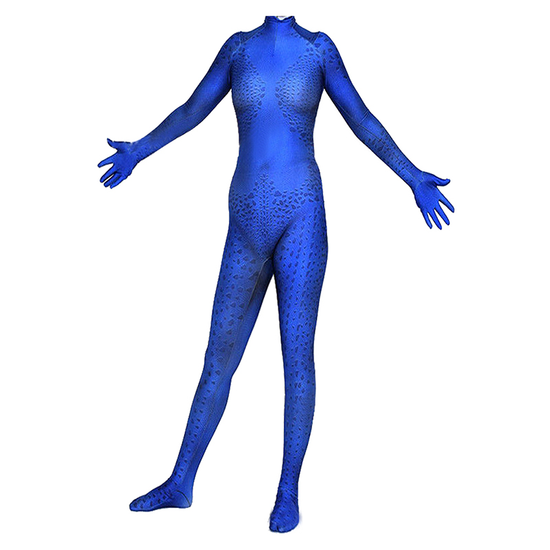 Marvel x-men Costume Cosplay Mystique corbeau Costume Darkholme combinaison bleue Hallwoeen carnaval Cosplay Costumes