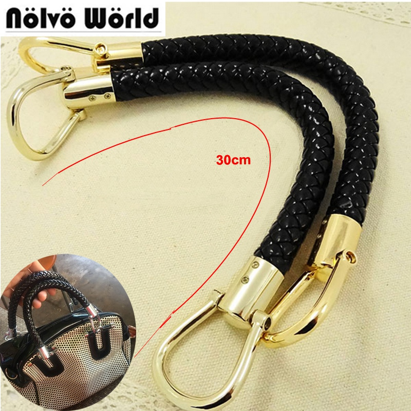 2pcs High Quality PU Pants Connect Handmade Alloy Metal Bag Accessories Braided Rope Bag Shoulder Bag Faux Leather With A Handle