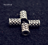 MCSAYS 1 PCS Norse Viking Jewelry Viking Runes Charm Beads Retro DIY Beard Beads Special Necklace