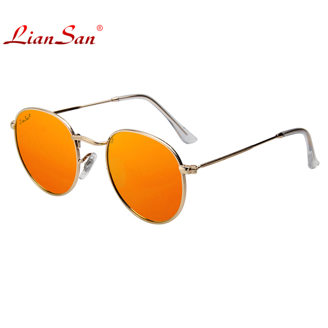 2017 LianSan Vintage Women Polarized Fashion Eyeglasses Sunglasses Brand Designer High-quality Lens Luxury Alloy Frame Ls3447