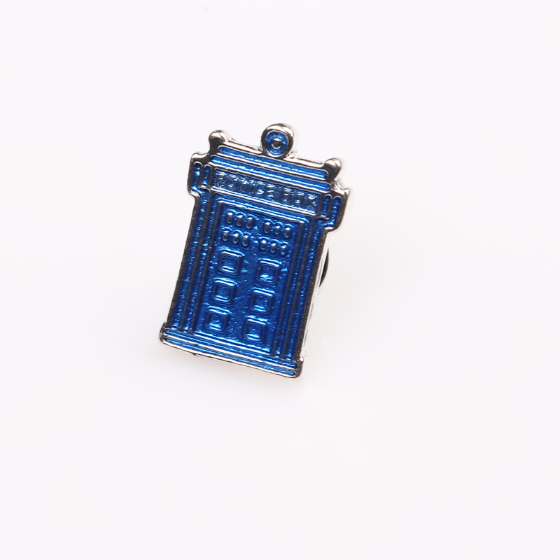 Fashion Jewelry Doctor Who Blue Emaille Police Box TARDIS Brooches For Women Men Gifts Accessories