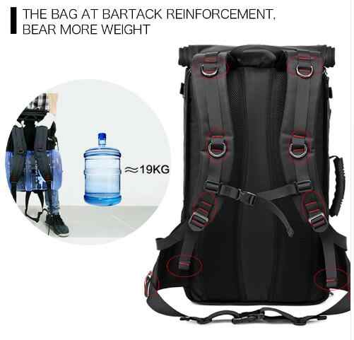 40l 50l mochila de viagem dos homens militar oxford mochila de viagem multi função 17 polegada portátil camuflagem mochila de viagem para homens
