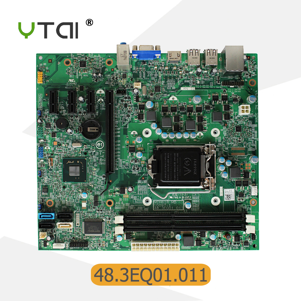 For Dell Inspiron 620 Desktop motherboard MIH61R 48.3EQ01.011 LGA1155 H61 DDR3 mainboard 100% tested