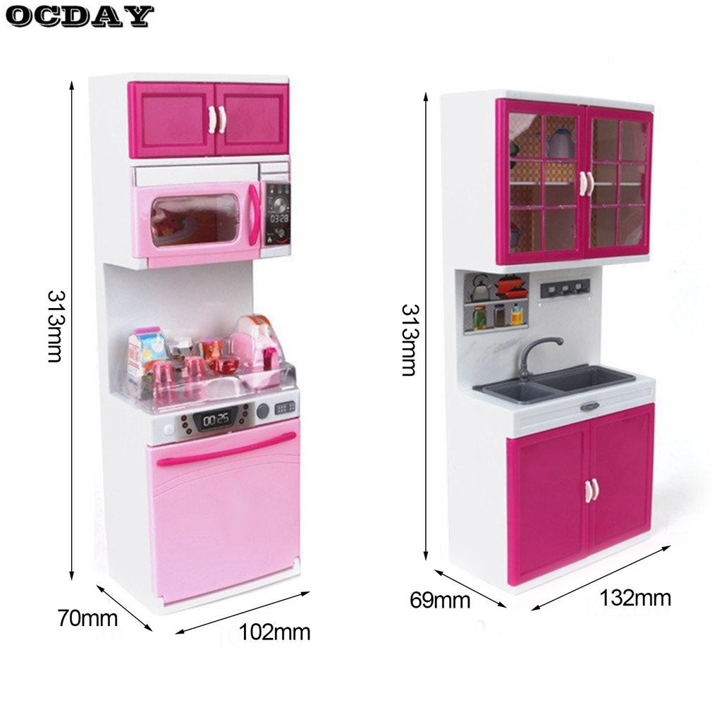 Pretend Play Kids Large Kitchen Cooking Toy Set Simulation Light ...
