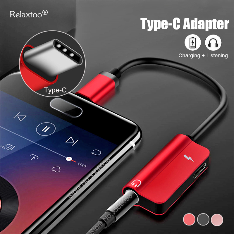 Type C Adapter Aux Audio Headphone Converter USB Type C To 3.5mm Earphone Jack Adapter For OnePlus 6T Xiaomi Mi 8 Huawei P20 Pro