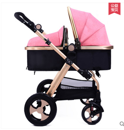 Free shipping Luxury baby carriage 2 in 1 Baby Stroller Folding Two-way kid car  Shock Absorbers child Pram send 7 gifts