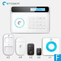 New Design Etiger S4 GSM PSTN Wireless Home Alarm Security System RFID Panel Smart home Burglar Alarm System DIY Standard A Kit