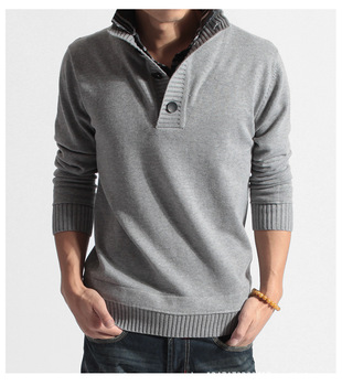 Casual Sweater Tops Men V-neck Pullovers Design Spring Autumn Knitting Long Sleeve Knitwear Leisure Sweaters Plus Size XXL