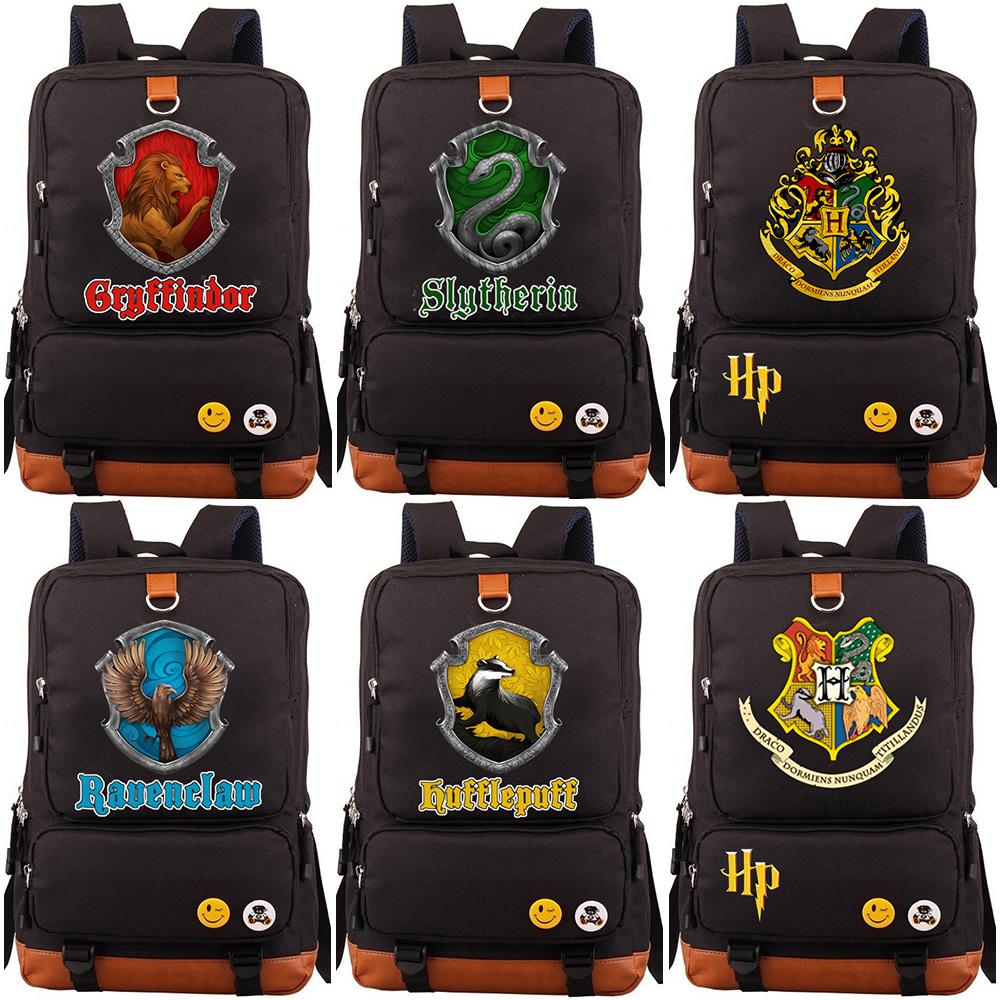 New Hufflepuff Slytherin Gryffindor Boy Girl School bag Women Bagpack Teenagers Schoolbags Canvas Men Student Backpack Packsack