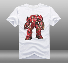 2015 Movie Avengers 2 Age of Ultron T font b shirts b font Hulkbuster MARK43 Printed