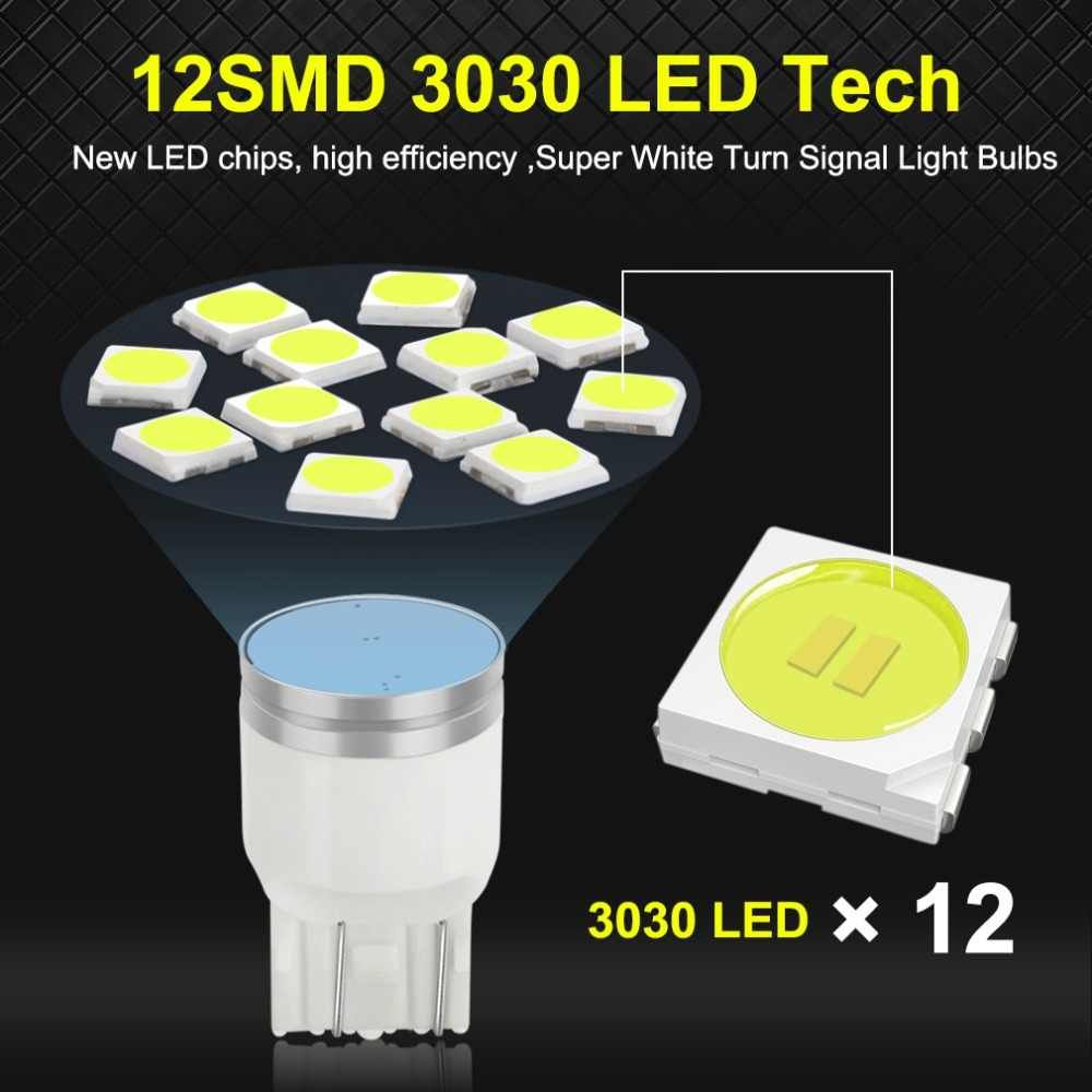 S&D T20 LED W21/5W 7443 W21W 7440 LED Bulbs 800LM Car Brake Reverse Tail Lights Turn Signal White Red Amber 12V Auto Lamp